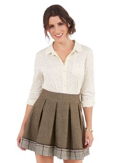 Number One Umber Skirt. Youre sure to find 100 ways to wear your new favorite cool-weather skirt. #brown #modcloth