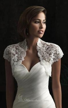 Cheap wedding jacket bridal, Buy Quality wedding jacket directly from China bridal wedding jacket Suppliers: Hot Sale Short Bolero Jacket For Prom Bridal Dresses Cap Sleeves Eyelash Edge Lace Bridal Wedding Jackets Bridal Wraps Wedding Dress Bolero, Bridal Bolero, Wedding Jacket, Bridal Lace, Lace Dress, Wedding Shawls, Wedding Gowns, Bridal Style, Bridal Dresses