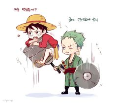 One Piece, Strawhat Pirates, Luffy, Zoro