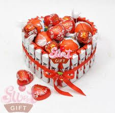 Поздравление из конфет и шоколада фото 698