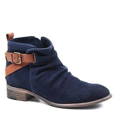 I'll take a pair in every color! Love this Navy & Tan Ris Kee Suede Ankle Boot on #zulily! #zulilyfinds