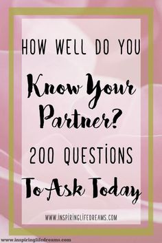 Make your relationship better - build a stronger love with these 200 great relationship questions!