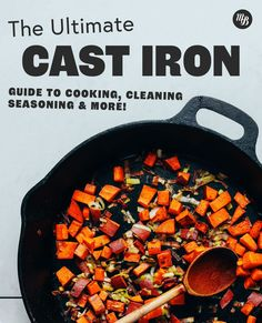 Iron Skillet Recipes, Cast Iron Skillet, Cast Iron Cooking, Lime Recipes Healthy, Vegetarian Recipes, Healthy Cooking, Cooking Tips, Eating Healthy, Cast Iron Care
