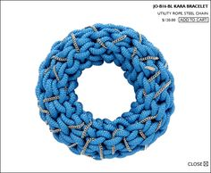 Kara Bracelet by Orly Genger: Made of utility rope and steel chain. Here is a DIY http://pinterest.com/pin/2814818486968057/  #Bracelet #Bangle #Orly_Genger