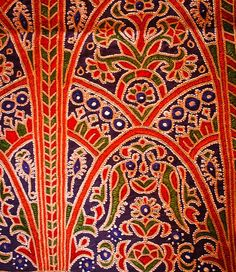 Ahir embroidery from Kutch, Gujarat Textile Fabrics, Textile Prints, Textile Design, Textile Art, Indian Embroidery, Hand Embroidery Designs, Floral Embroidery, Embroidery Blouses, Indian Folk Art