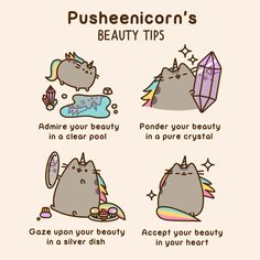 Pusheenicorn Beauty Tips