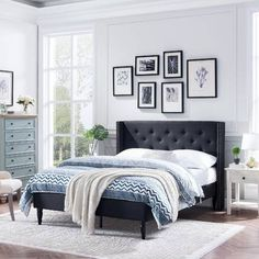 f86fc5b2afbd94 Darby Home Co Croce Upholstered Panel Bed & Reviews | Wayfair Traditional  Bed Frames, Chelsea