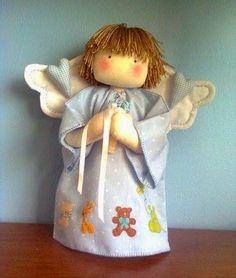 Ceci EuQfiz: Anjo fazendo oração com moldes