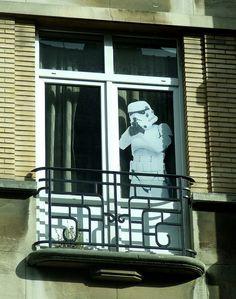 Stormtrooper window decal in Brussels, Belgium Brussels Belgium, Window Decals, Store Fronts, Travel Photography, Windows, Photos, Pictures, Window Stickers, Ramen