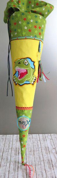 Schultüten - coole T-Rex Dinosaurier Schultüte -Unikat- - ein Designerstück von SissisTraumland bei DaWanda