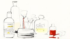 love this sketch by #garancedoré - wishing my vanity looked this pretty!