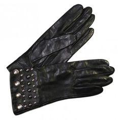 Gants Cuir Femme Poignet Clouté Glove Story - Tous Les Gants