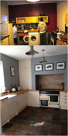 Bottom picture. Might do this this weekend to my kitchen. I want it so bad!!