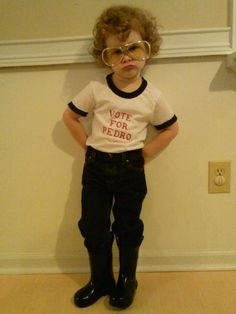 Napoleon Dynamite. This will be my child one day. <3 @Sarah Chintomby Miller - this would be a great costume for your little guy. With his curls he could pull it off in the cutest of ways. : )