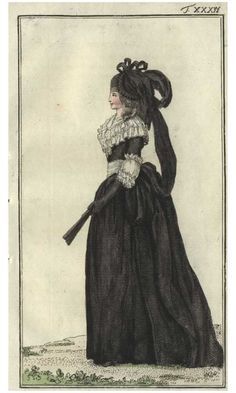 Journal des Luxus, 1786. What an amazing hat! Ive never seen anything like it before!