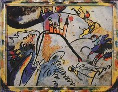 "Wassily Kandinsky — ""Glass Painting with the Sun (Small Pleasures)"" (1910)"