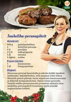 Helppoa ja maukasta arkiruokaa: jauheliha-perunapihvit!
