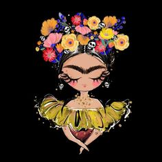 Who is excited? Art Inspo, Painting Inspiration, African Art Paintings, Frida Art, Cute Cartoon Wallpapers, Mexican Folk Art, Skull Art, Easy Drawings, Cute Art