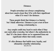Sad Love Quotes : QUOTATION – Image : Quotes Of the day – Life Quote The distance was extremely hard on me while Andrew was away doing his Marine thing, but I do feel like it helped our relationship. ♥ Sharing is Caring Long Distance Love Quotes, Long Distance Relationship Quotes, Relationship Tips, I Miss You Quotes For Him Distance, Patience Quotes Relationship, Long Distance Boyfriend, Relationship Pictures, Love Quotes For Him, Quotes To Live By