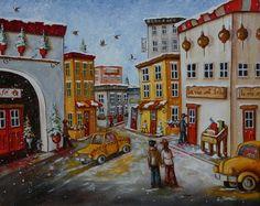 Un bel hiver Mom, Painting, Painters, Landscapes, Toile, Artist, Painting Art, Paintings, Painted Canvas