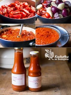 Kuchařka ze Svatojánu: PROVENSÁLSKÝ KEČUP Tomato Sauce Recipe, Sauce Recipes, Cooking Recipes, Healthy Recipes, Homemade Pickles, Food Club, Hot Sauce Bottles, Chutney, Pesto