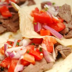 Oaxacan Tacos Recipe @ allrecipes.com  These are SO easy & good...very fresh. They can be a little dry so I added avacado - yummy!