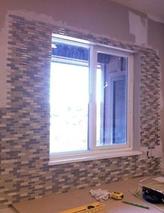 Backsplash Around Window Kitchen Tile Backsplash Around