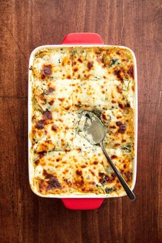 Chicken Spinach Artichoke Lasagna Vertical