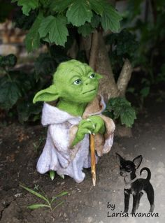 *NEEDLE FELTED ART ~ Yes force be with you ...The Miracle of nothing