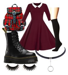 """""""Mars Argo 2"""" by zoieeldreth on Polyvore featuring WithChic, Dr. Martens and Plush"""