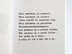 Typographic poem - »2 4get her« is a collection of my concrete and visual poems of the last years, written with my adler triumph gabriele 10 typewriter.