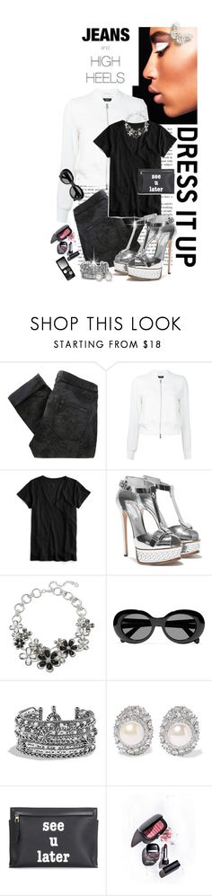 """JEANS AND HIGH HEELS!!!!"" by shortyluv718 ❤ liked on Polyvore featuring Maison Scotch, Theory, J.Crew, Dana Buchman, Acne Studios, David Yurman, Kenneth Jay Lane, Loewe, Marc Jacobs and Youngblood"