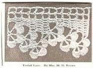 Fancy crochet edge Slip Stitch Crochet, Crochet Lace Edging, Crochet Borders, Tunisian Crochet, Afghan Crochet Patterns, Irish Crochet, Crochet Doilies, Easy Crochet, Crochet Stitches