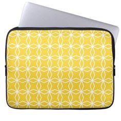 Mod Yellow Geometric Pattern Laptop Sleeve