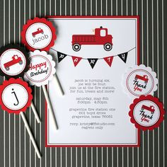 Kristy of F8 Studio Photography recently contacted me about working on a joint birthday party for her two boys being held at their local Fire Station! I have had so many requests for the Firetruck theme, I figured it was about time to get going on it! I've been so busy, I enlisted my friend, …