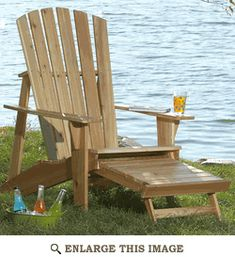 Adirondack Chair with Footrest Woodworking Plan