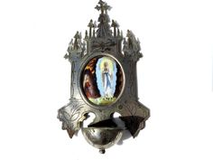 French Vintage Benitier/Holy Water Font by FrenchReligiousFinds, $75.00