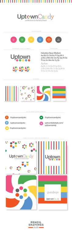 Branding: Uptown Candy | Pencil Shavings Studio