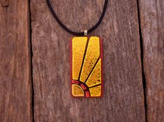 Dichroic Fused Glass Sunburst Necklace by PureLightStudio on Etsy, $40.00