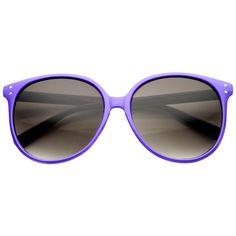 Colorful Retro P3 Round Indie Horned Rim Sunglasses 9698