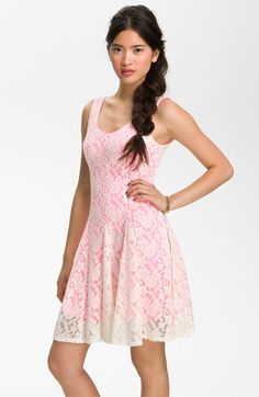 Fire Lace Tank Dress (Juniors) available at #Nordstrom Love this dress so cute!