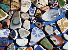 Found treasures from the beach of Trapani, Sicily ...imagine the mosaic this would make <3