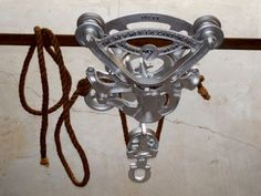 Nice-Vintage-Ney-Hay-Farm-Barn-Trolley-Carrier-No-86-w-Bottom-Fork-Pulley-Rope