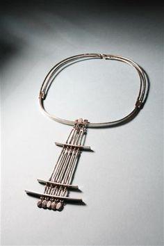 Necklace |  Frank Juhls, Norway. 1960's.  Silver    Silver.