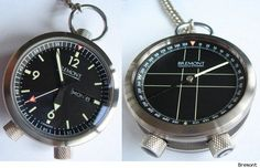 Bremont pocket watch with compass at rear - kinda nifty