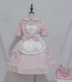 Harajuku Fashion, Lolita Fashion, Pink Outfits, Cute Outfits, Japanese Kawaii Fashion, Cute Fashion, Fashion Outfits, Maid Outfit, Kawaii Clothes