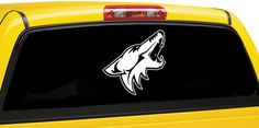 Arizona Coyotes Inspired Window Car Decal / Hockey Team Inspired Car Decal | eBay