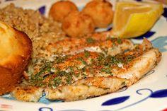 Sugar & Spice by Celeste: Lemon Butter Grouper Grouper Recipes, Salmon Recipes, Fish Recipes, Seafood Recipes, Cooking Recipes, Yummy Recipes, Baked Grouper, Grilled Grouper, Lemon Butter Sauce
