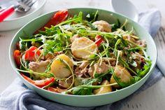 Warm tuna, lemon pepper & roasted potato salad 10 mins to prep, 40 to cook