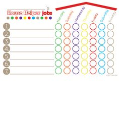 House Helper Chore Chart- Red/Brown - Writeable with any washable marker! Learning Fractions, Printing Practice, 100 Chart, 4 Kids, Markers, Alphabet, Brown, Prints, Red
